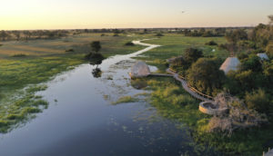 Remote safari locations in Africa
