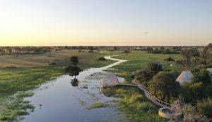 Luxury safari lodge in Botswana
