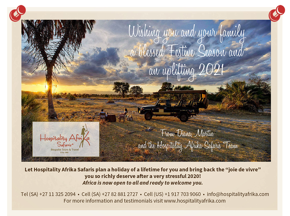 Festive greetings from Hospitality Afrika Safaris