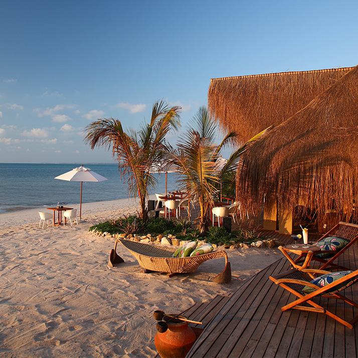 Remote beach escape in Mozambique